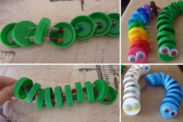 Bricolages avec des bouchons de plastique bouchons - Bricolage facile a realiser ...
