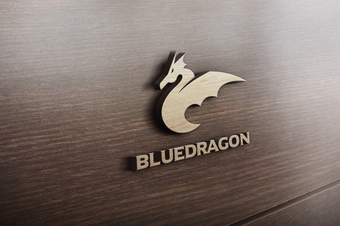Blue Dragon Logo Free business fonts, Blue dragon