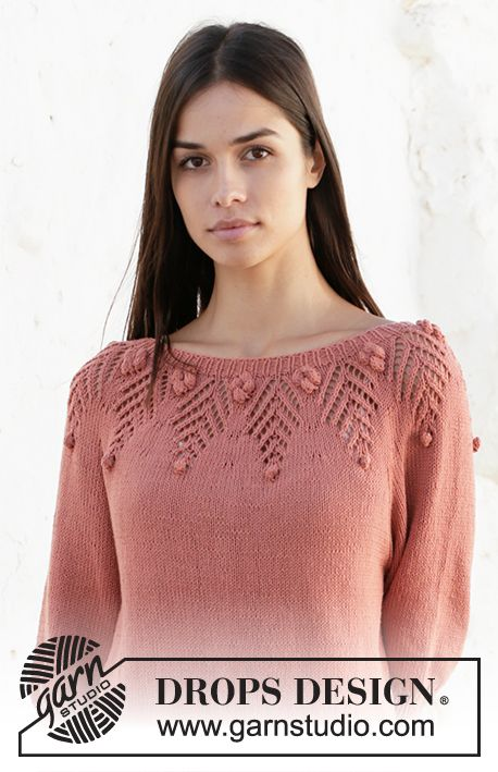 Copper Rose / DROPS 212-10 - Free knitting patterns by DROPS Design