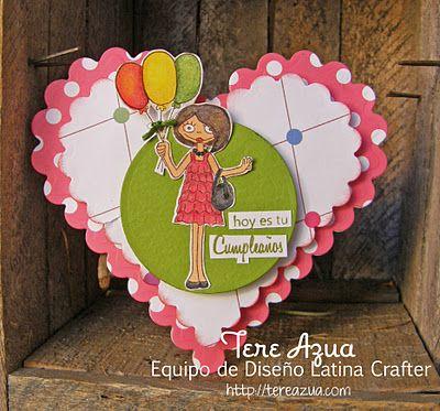 Latina Crafter - Sellos en Español: Globos y Pequeñas Notas