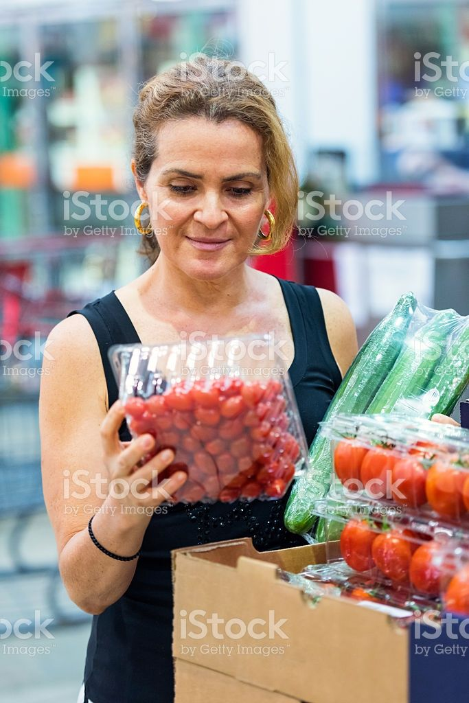 Shopping for produce royalty-free stock photo