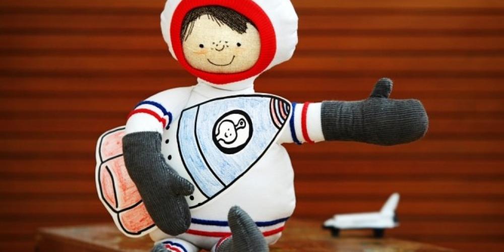 Wie der Astronaut zu seiner Rakete kam – Freebie Malvorlage