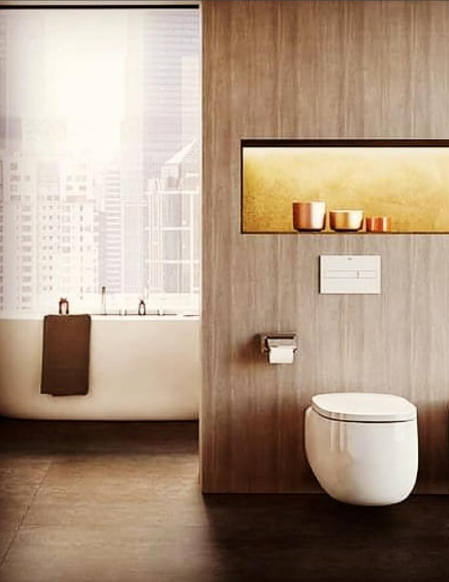 salle de bain baignoire ilot séparation toilette sanitaire ...
