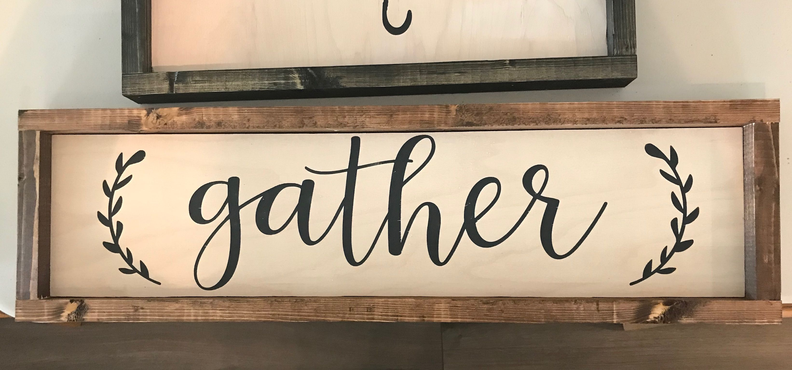 Wood sign quote custom cute home decor simple gather ...
