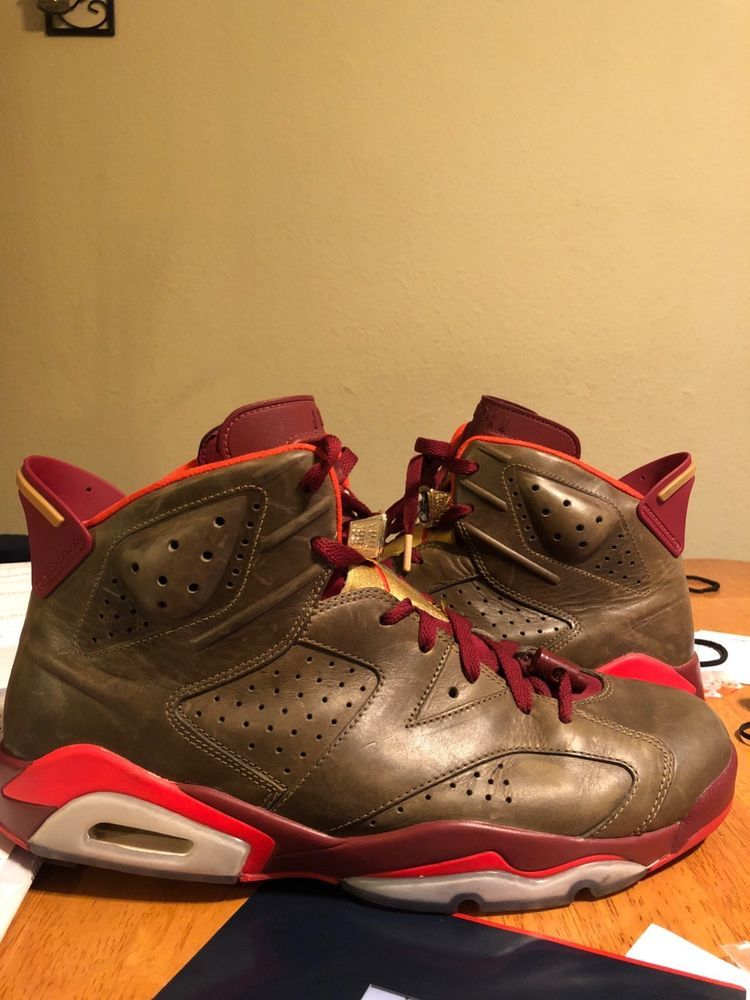 Air Jordan 6 Retro Size 13 Cigar Champagne Ds Nib Purple High Og