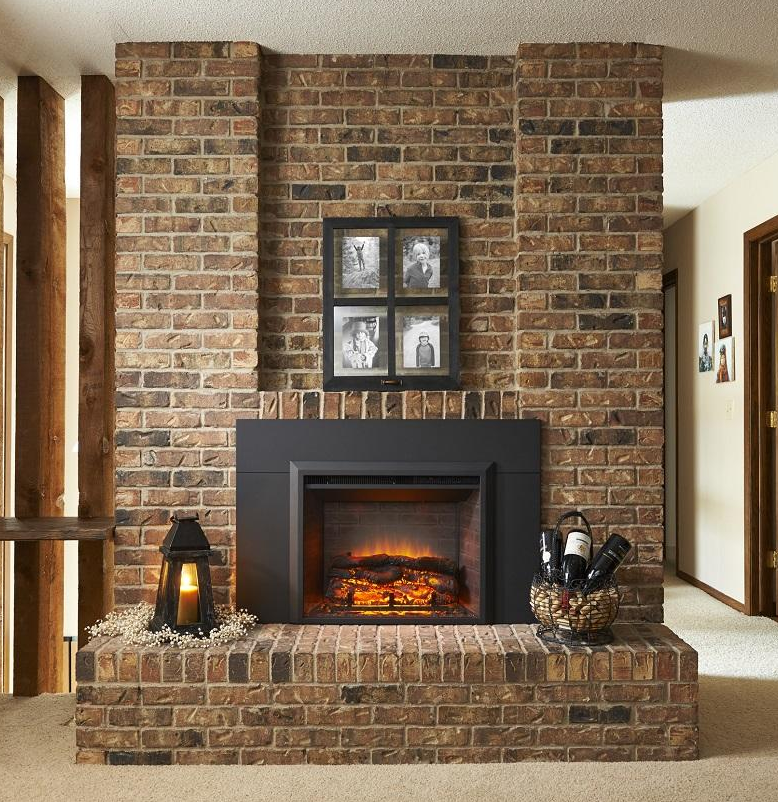 Easily Turn Your Old Wood Burning Fireplace Into A Modern And