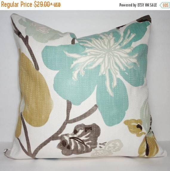 24X24 Pillow Insert Fall Sale New Braemore Gorgeous Pearl Pillow Cover Teal Green Rose