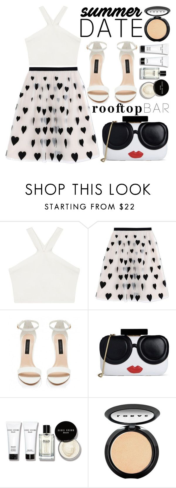 """""""Summer Date: Rooftop Bar"""" by fattie-zara ❤ liked on Polyvore featuring BCBGMAXAZRIA, Alice + Olivia, Bobbi Brown Cosmetics, LORAC, summerdate and rooftopbar"""