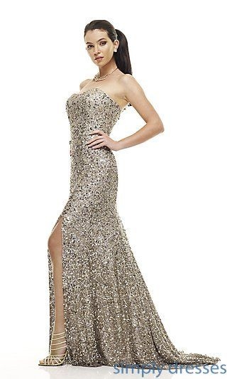 Strapless Sequin Gown, BG Haute Sequin Prom Gown - Simply Dresses ...