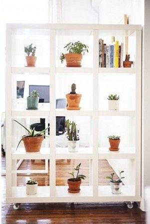 Boekenkast als roomdivider | huis | Pinterest