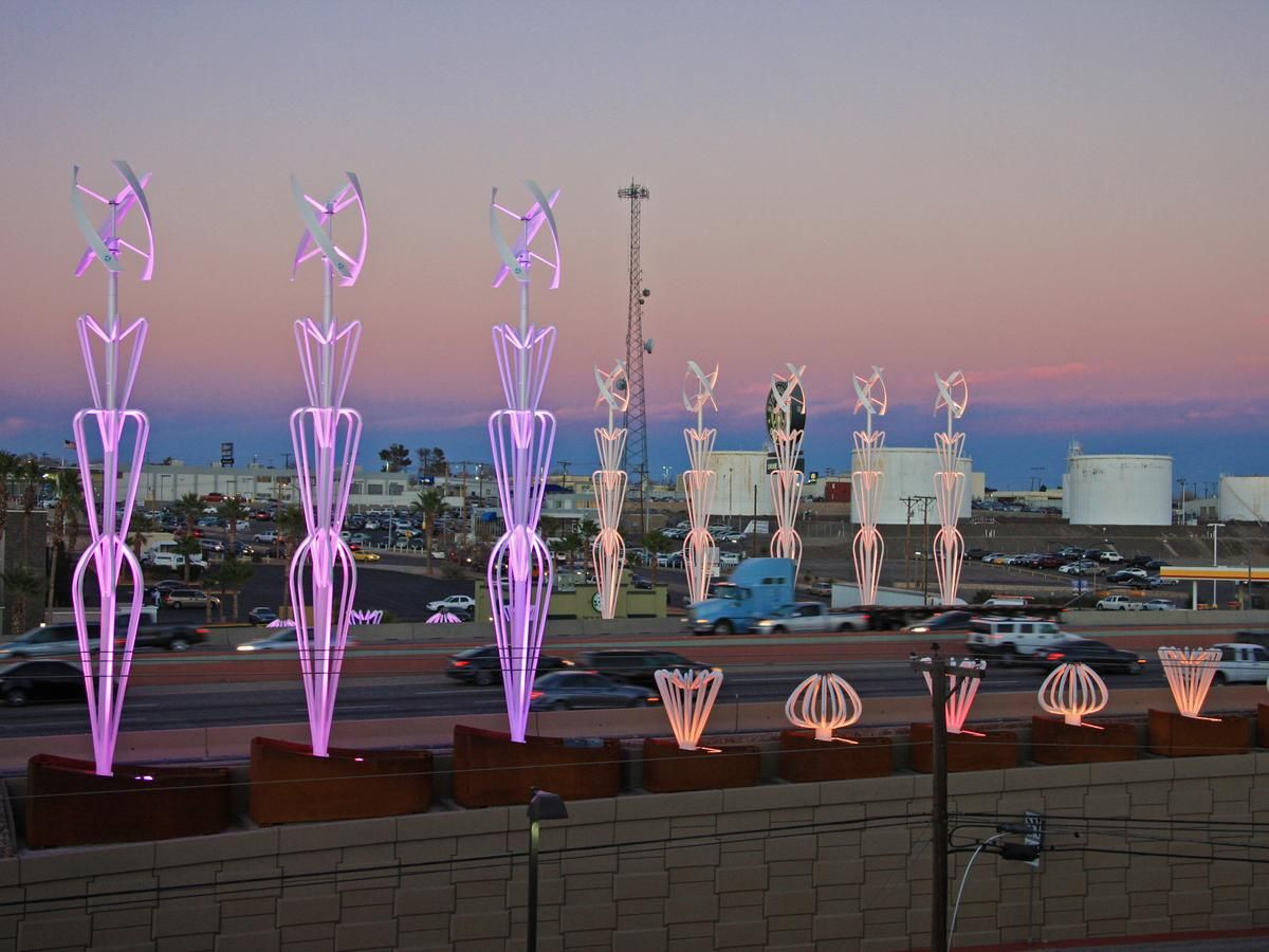 El Paso Texas Sixteen Uge Eddygt Wind Turbines Uge Partner