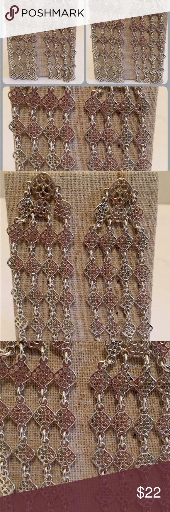 Devon Chandelier earrings ( Silver ) S&D Devon Chandelier earrings Stella & Dot Jewelry Earrings