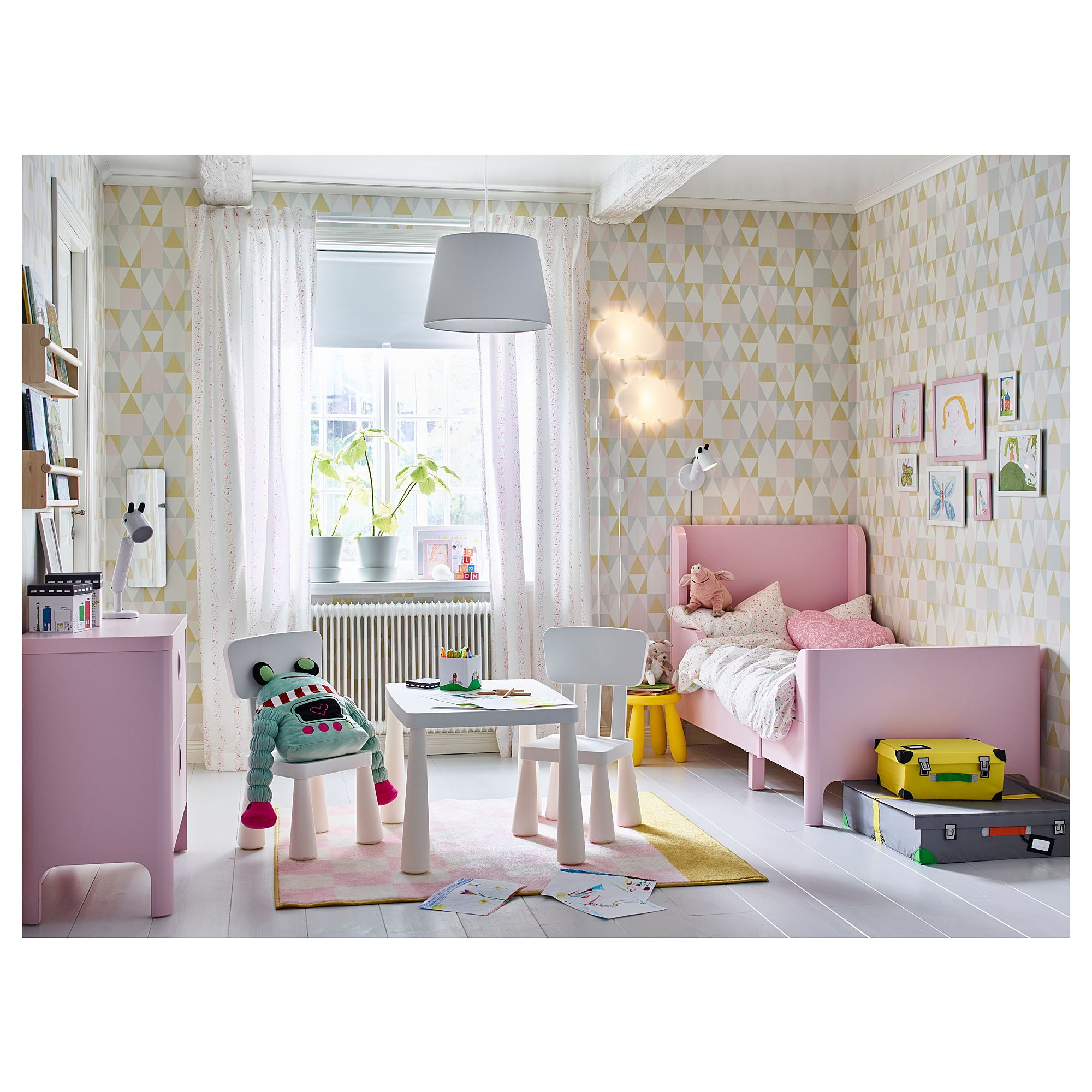 Ikea Schlafzimmer Rosa Ikea Busunge Extendable Bed Light Pink Home Fab Ikea