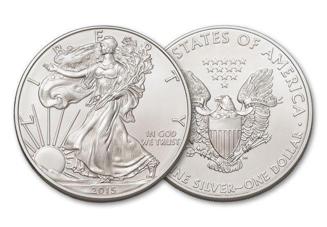 2015 1 Dollar 1 Oz American Silver Eagle Bu Silver Dollar Value Silver Coins Silver Eagle Coins