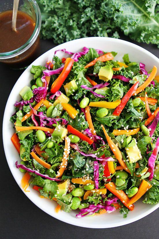 Asian Kale Salad with Sesame Ginger Dressing