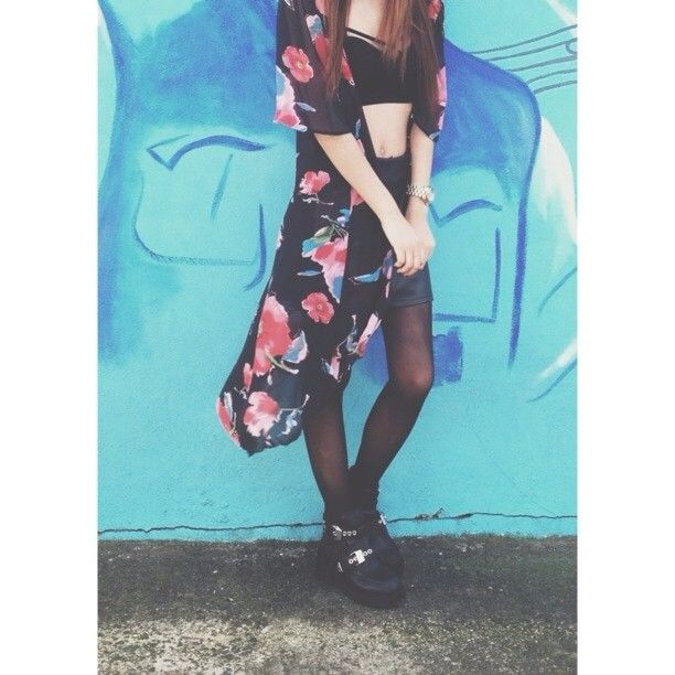 Kimono she did #ciara___nicolee #F21XMe #Floral