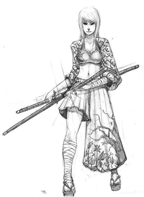 female samurai warrior concept art - Google Search