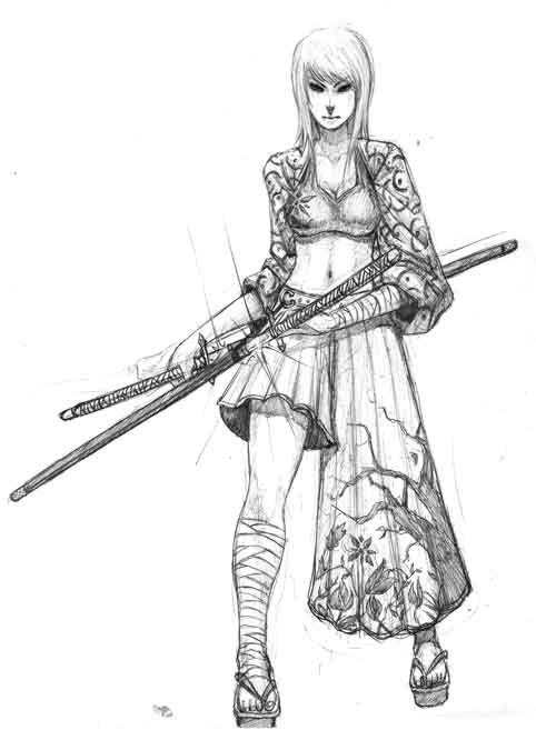 female samurai warrior concept art - Google Search