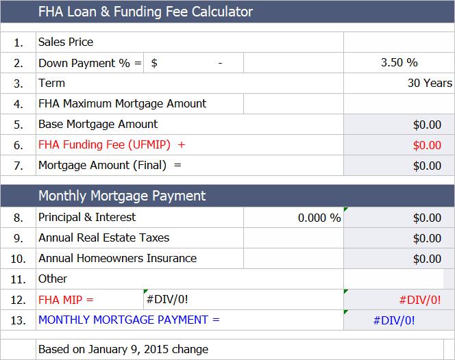 Fha Loan Payment Calculator Fha Mortgage Fha Loans Fha