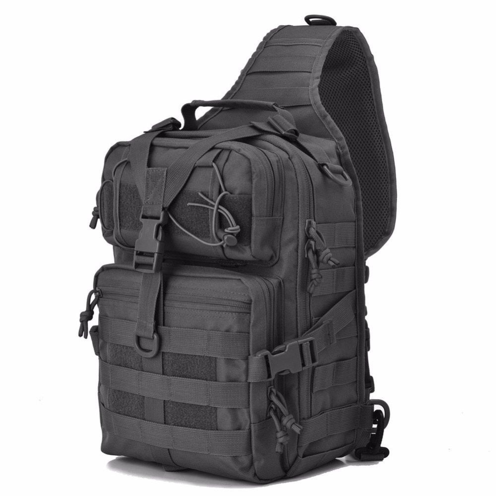 ba9979a13a7 Military Tactical Assault Pack Sling Backpack Army Molle Waterproof EDC Rucksack  Bag for Outdoor Hiking Camping Hunting 20L