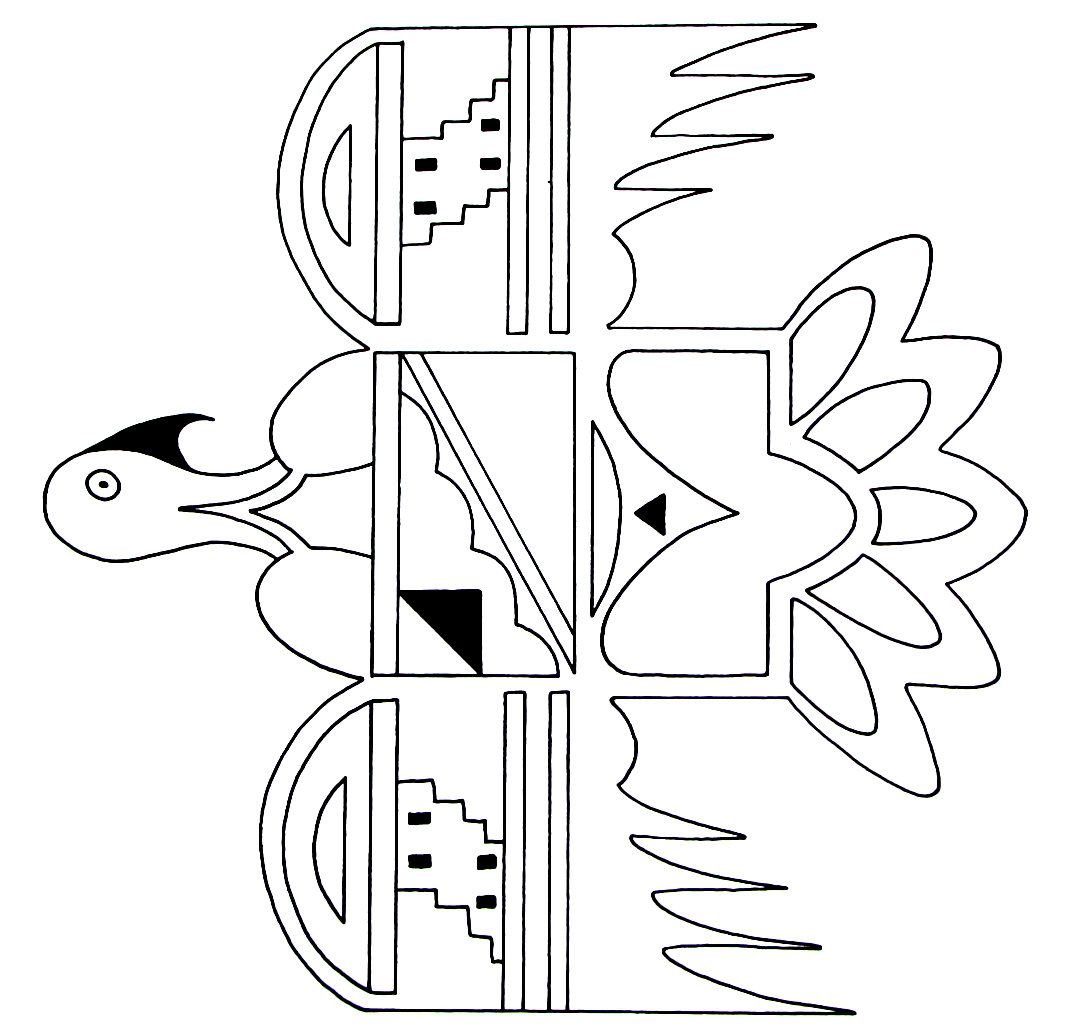 A Thunderbird Design From The Hopi Indians Printable Coloring Book