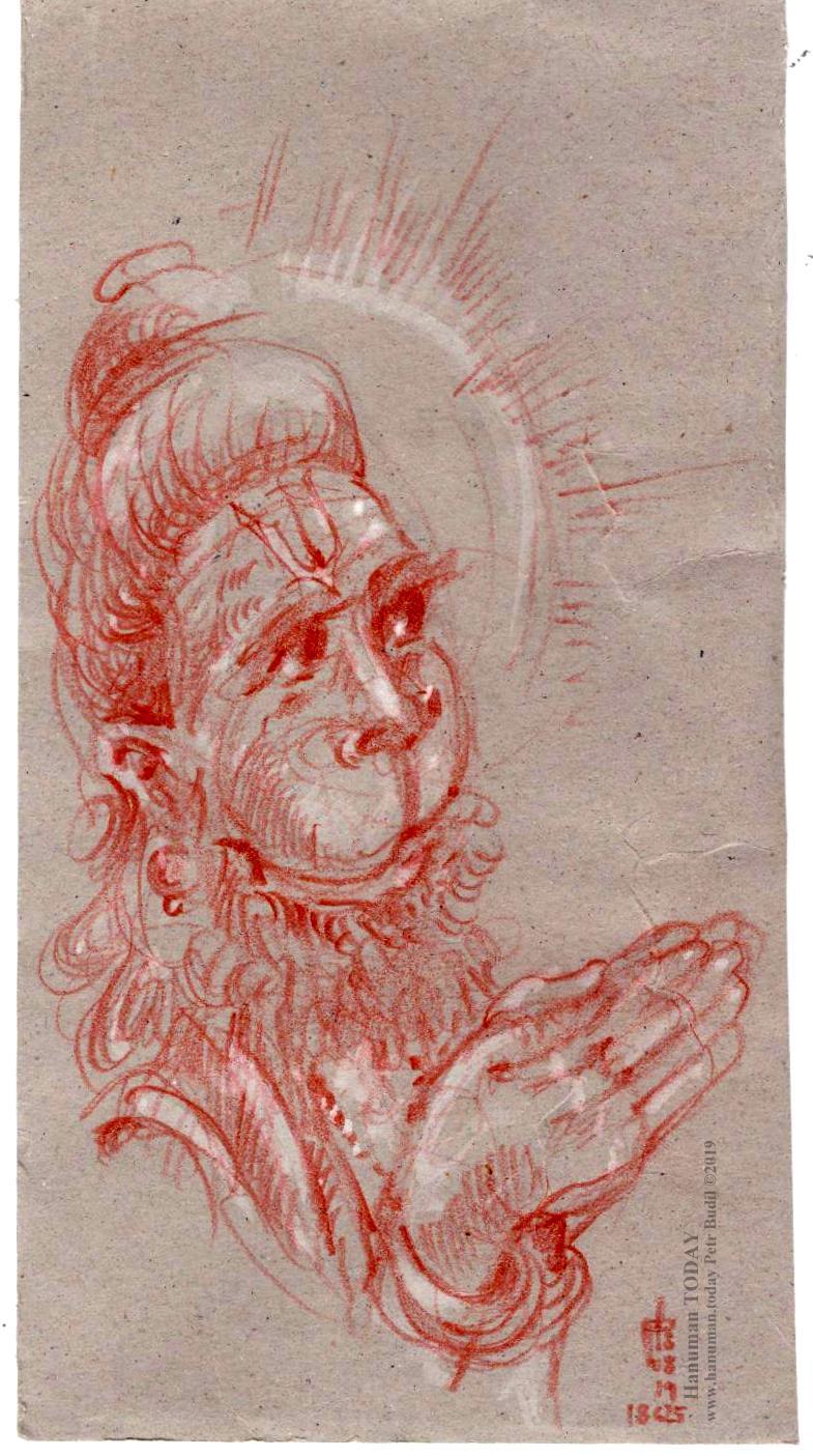 Pin on Hanuman - Pencil