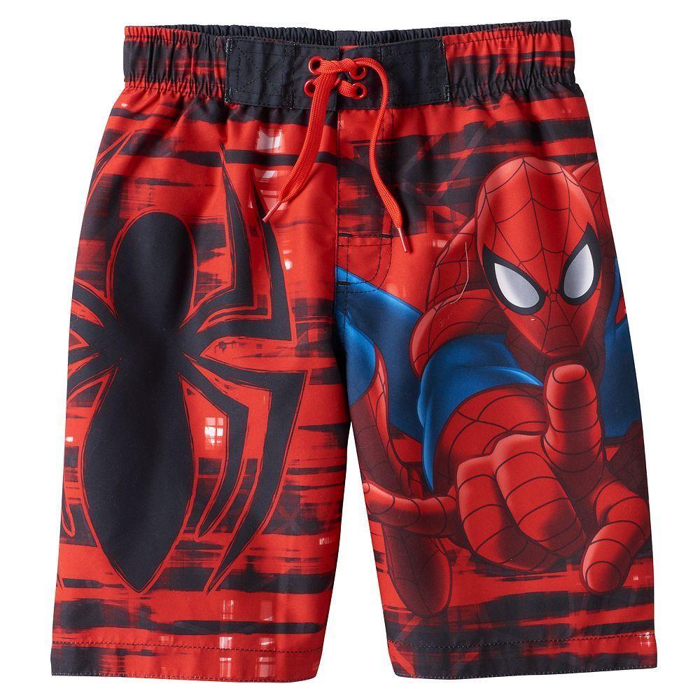 UPF Marvel Spiderman Swim Trunks-Toddler Size 4-NEW 50