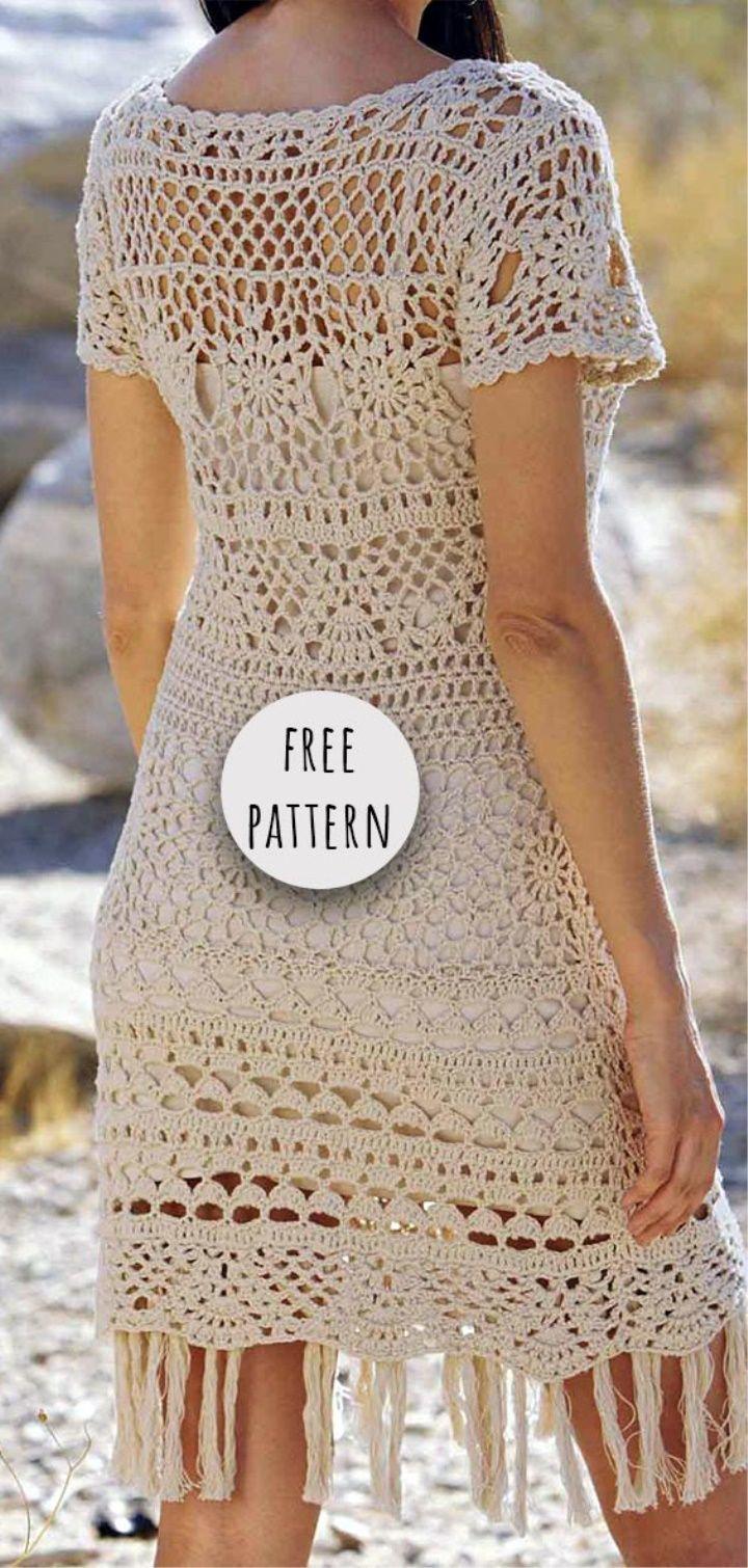 Crochet Summer Dress Free Pattern #summerdresses