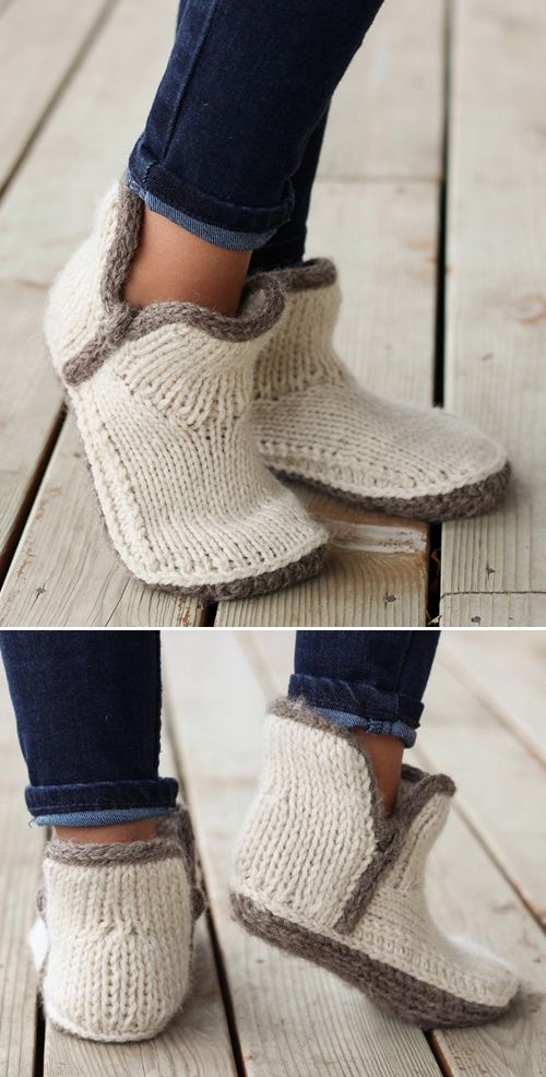 Photo of Mini Modern Mocs – Knitting Pattern