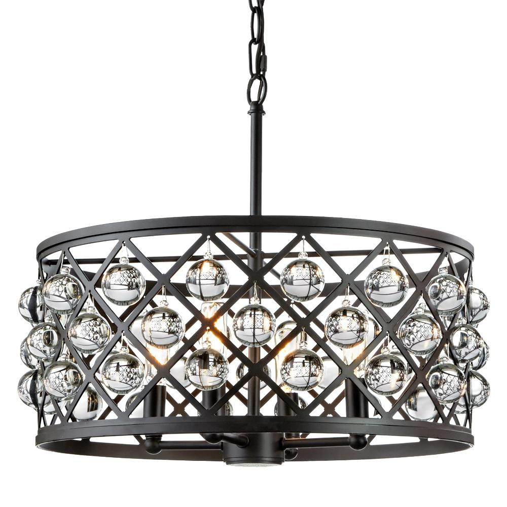Home decorators collection pennington crest 4 light antique bronze home decorators collection pennington crest 4 light antique bronze pendant with solid crystal spheres aloadofball Image collections