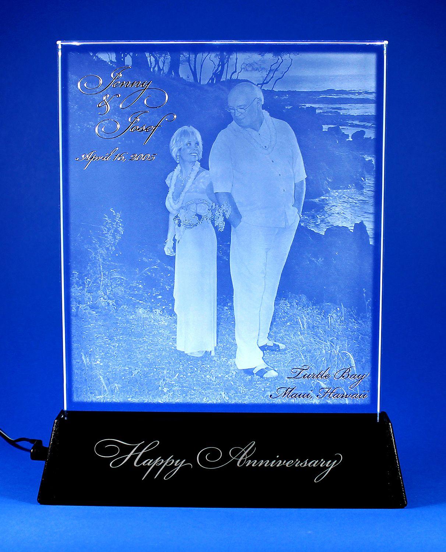 Anniversary Gift, Custom Gifts, Engraved Crystal, Wedding