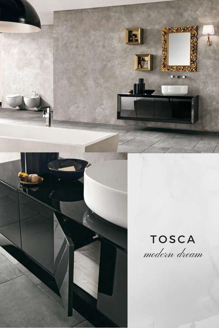Die Zusammensetzung Tosca Zeichnet Sich Durch Den Waschtischelement