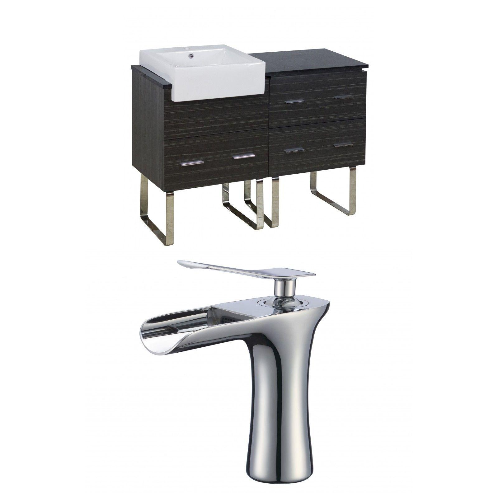 "Xena Farmhouse 48"" Single Plywood-Melamine Bathroom Vanity Set"