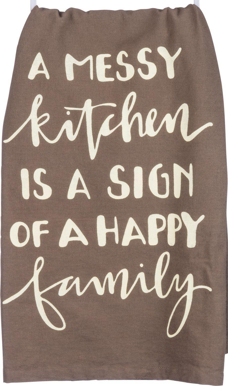 A Messy Kitchen Towel