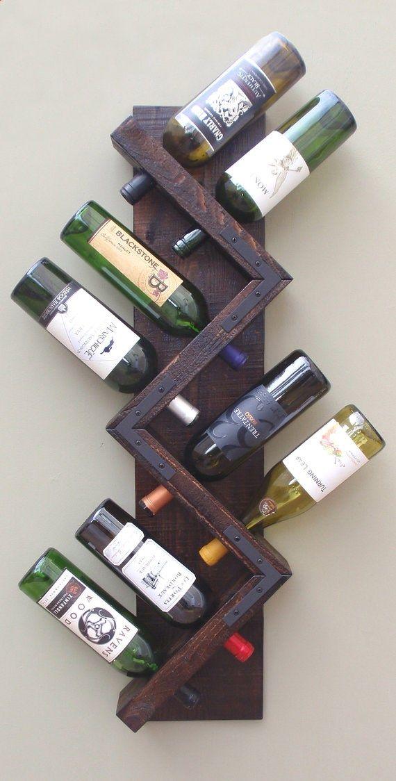 Wood Wall Wine Rack Handmade Wood Wine Rack Wine Bottle Display Hanging Wine Rack Wall Mounted Wine R Wine Bottle Display Rustic Wine Racks Wine Bottle Storage