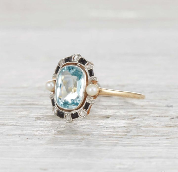 Diamond And Rose Gold Antique Style Engagement Ring We This
