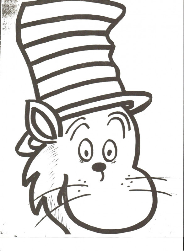 Blank Cat In The Hat Template Unique Printable Coloring Pages For Cat In The Hat Bluedotsheet Co Dr Seuss Hat Dr Seuss Coloring Pages Hat Template