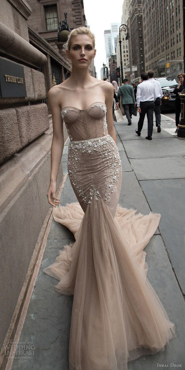 Trouwjurk Taupe.Inbal Dror 2016 Wedding Dresses Wedding Jurken Trouwjurk En