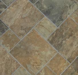 Classic 12 X 12 Sedona Slate Cedar Glazed Porcelain Floor Tile
