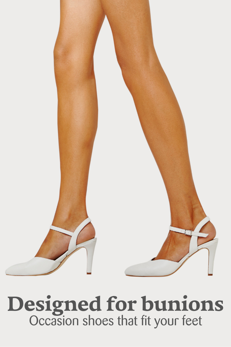 d9f3104a4570 These high heels are specially designed for problem feet and bunions. Extra  space in the toe box