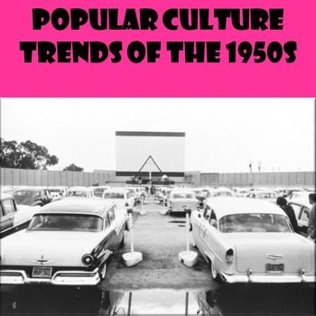 US History Middle School Webquest Lesson Plan Popular Culture Trends In The 1950s This 45 60 Minute For Helps Students Answer