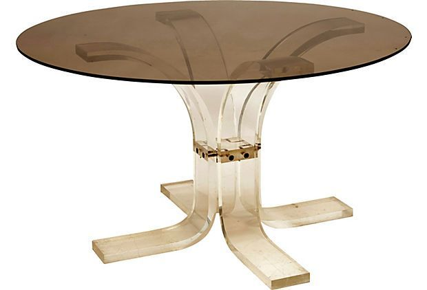 Lucite Table Base | Lucite Dining Table