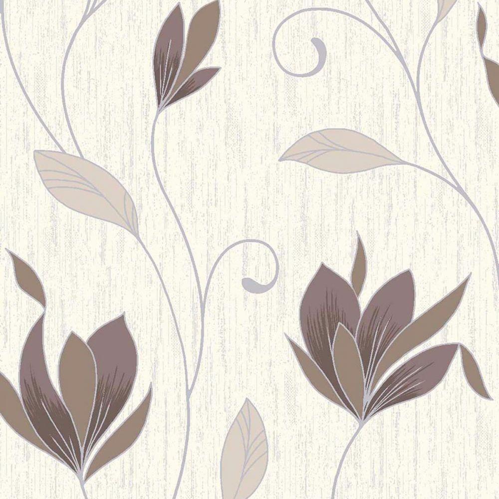 Arthouse Capriata Ice White Wallpaper 290303 Italian Foliage Grey