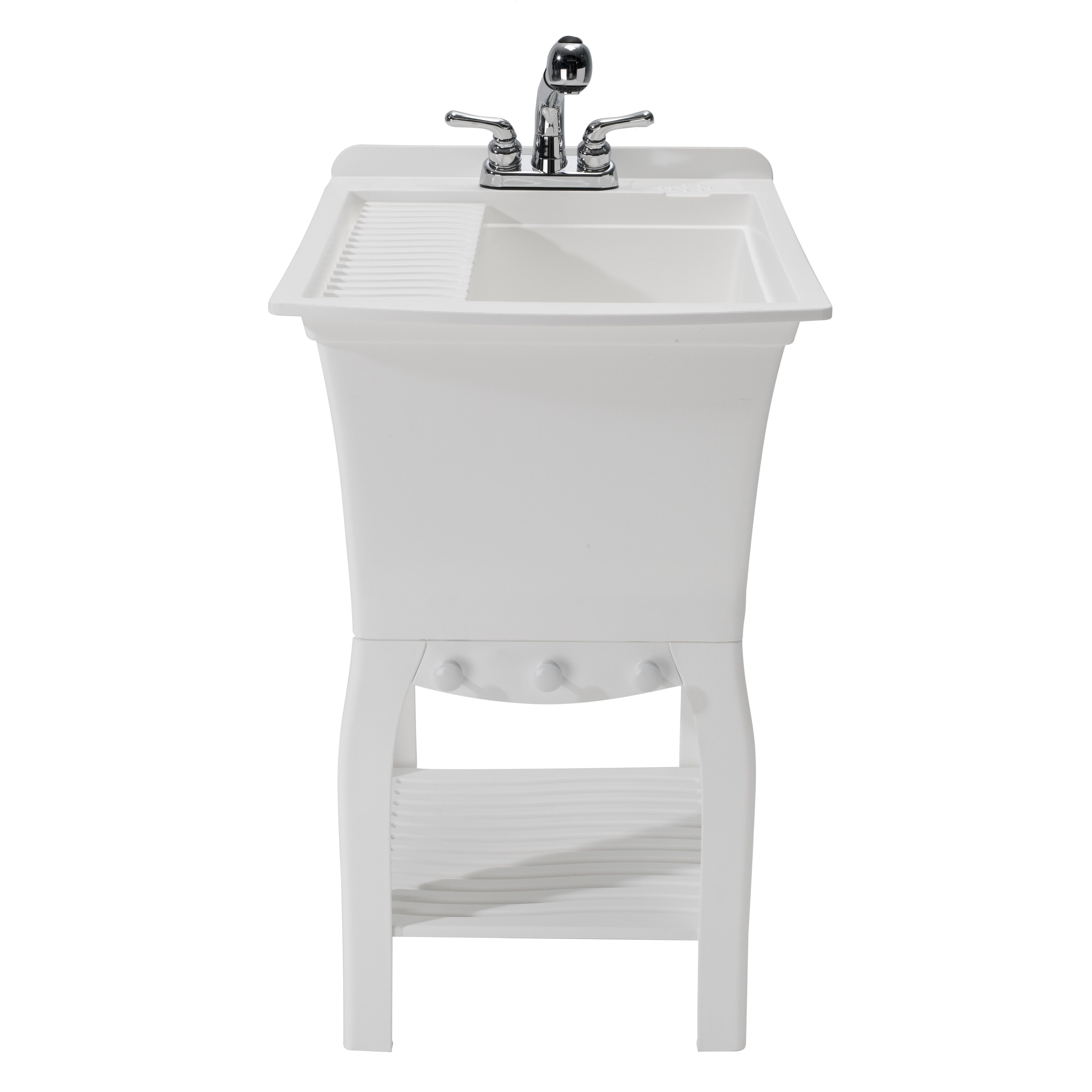 Fitz Workstation 20 5 X 25 75 Freestanding Laundry Sink With
