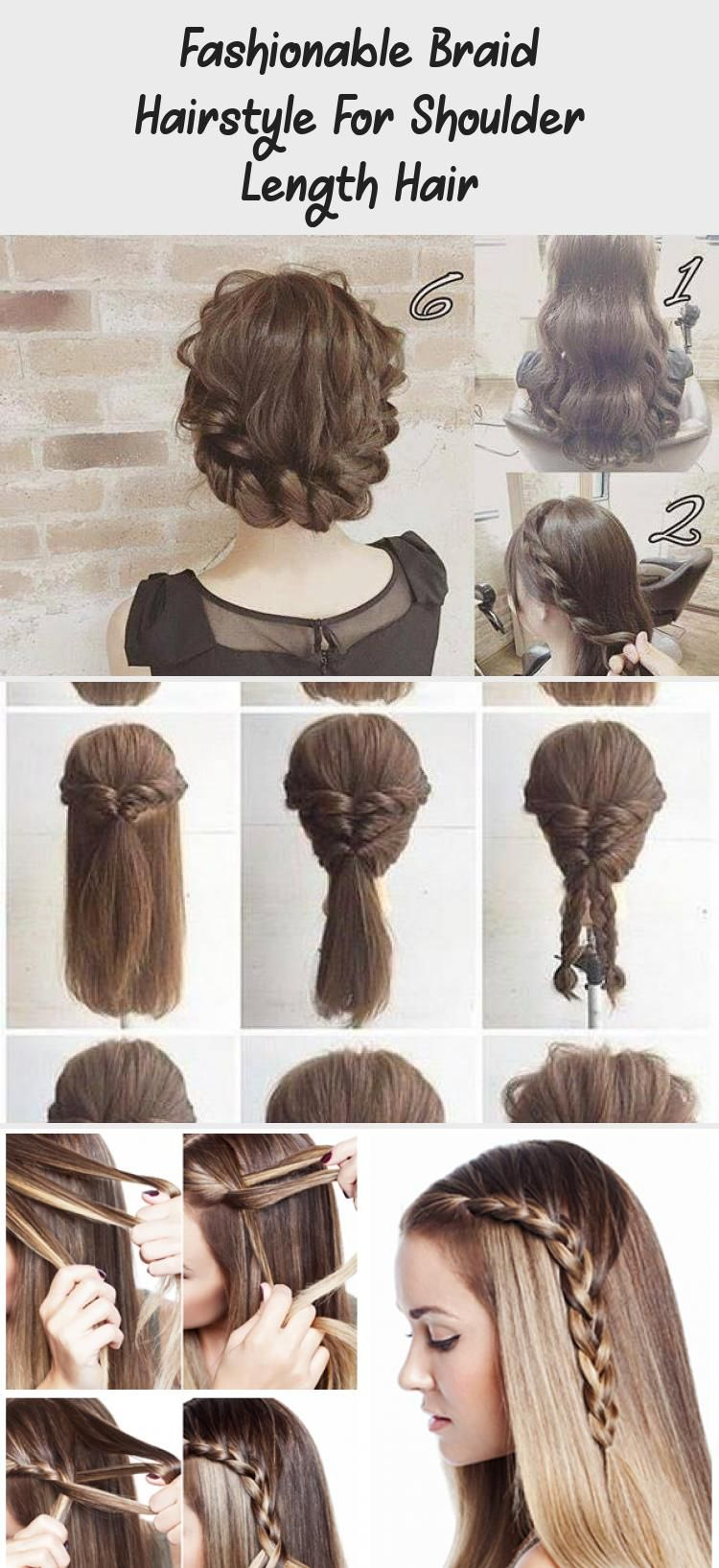 Fashionable Braid Hairstyle For Shoulder Length Hair Arianagrandehairtutorial Hairtutorialeasy Hairtuto In 2020 Braided Hairstyles Shoulder Length Hair Hair Lengths