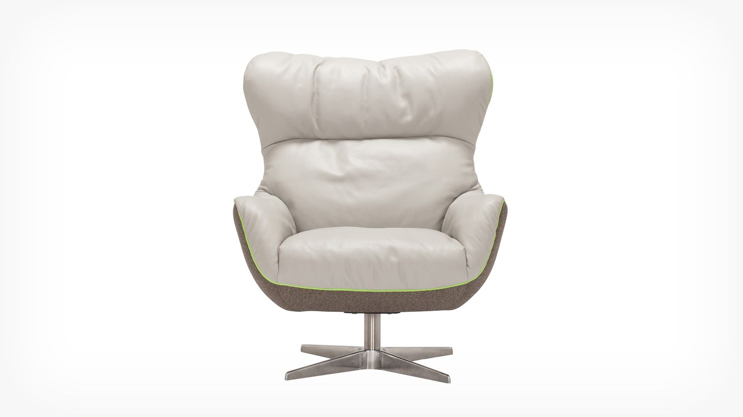 Genial Arie Chair Leather Fabric Front 01