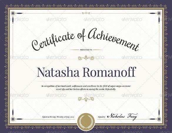 Award Certificate Template Photoshop Md Pinterest Certificate
