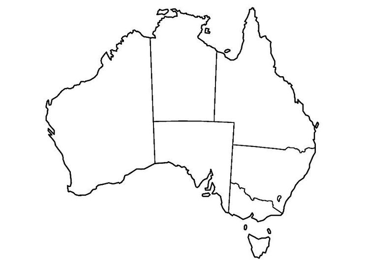Coloring Page Australia Australia Map Australia For Kids Free