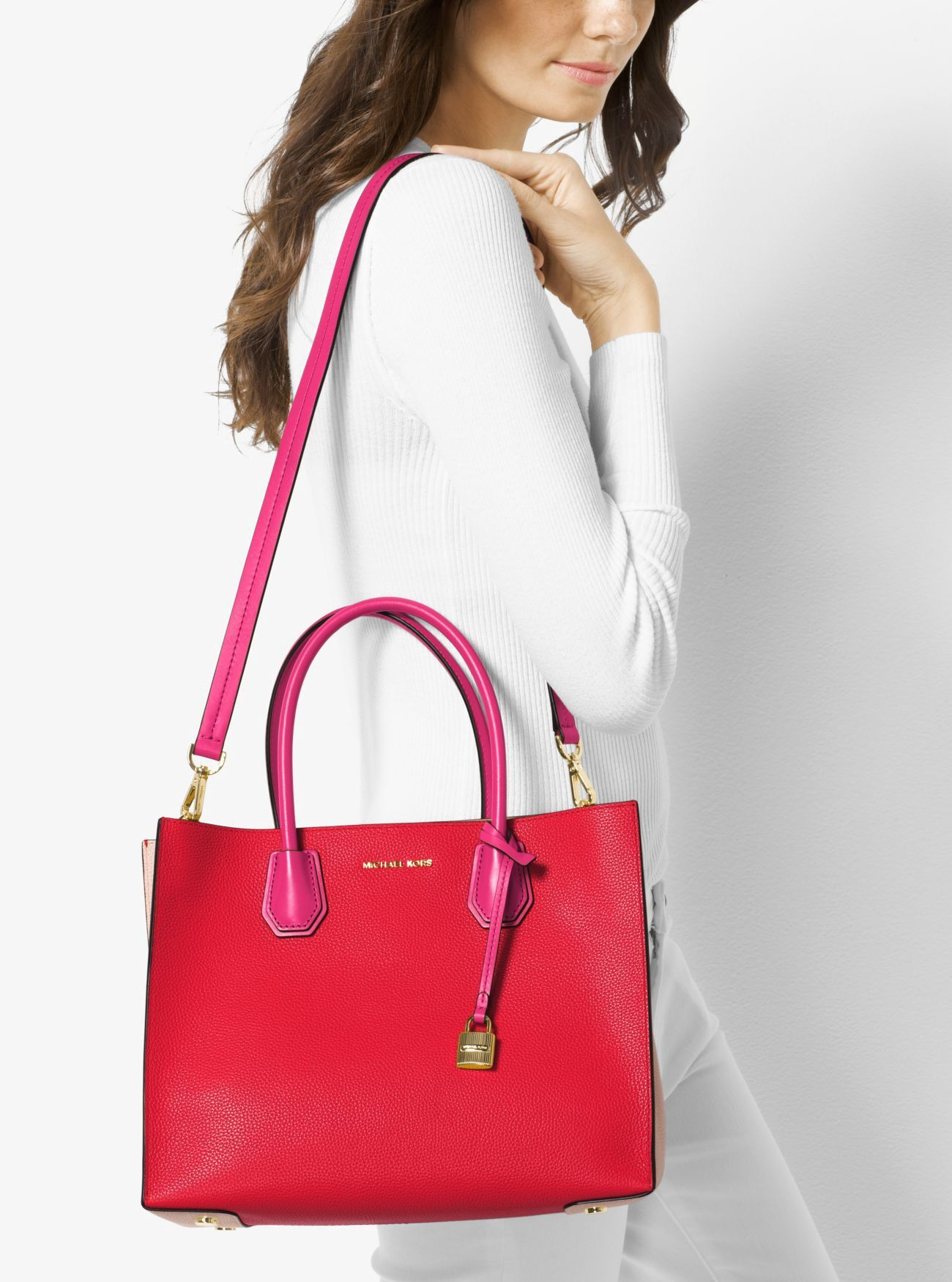 e74585d6ead80 Mercer Large Color-Block Leather Tote by Michael Kors in 2018 ...