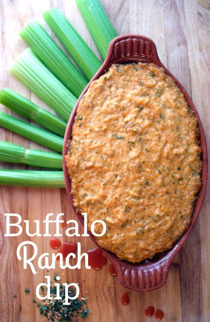 Buffalo Ranch Dip. Great appetizer for a Superbowl watch party! #paleo #whole30
